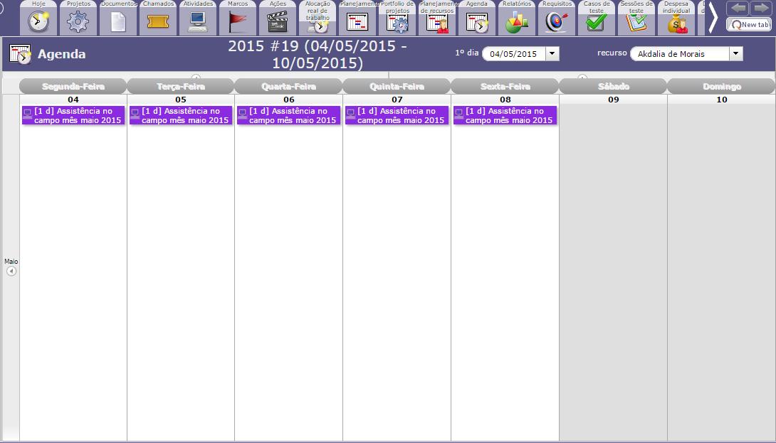 planejamento diario - gerenciador de projetos